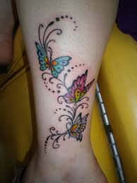 colored butterfly tattoos on wrist tattooshunt com