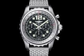 breitling steel bracelet images Breitling chronospace stainless steel volcano black dial on aero jpg