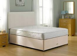 magenta spring mattress and classic divan bed beige
