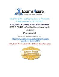smrp cmrp certified maintenance u0026 reliability professional ppt