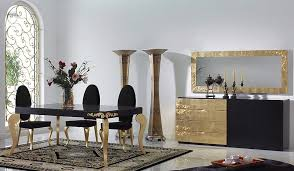Black Dining Room Furniture Decorating Ideas The Best Black And Gold Decorating Ideas For Your Dining Room