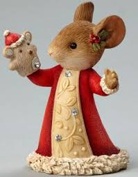 Christmas Mice Decorations Christmas Mouse With Jingle Bell Figurine Jingle Bells Mice And