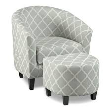 Gray And White Accent Chair Sperrie Accent Chair And Ottoman Gray Value City Furniture