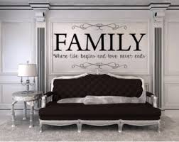 living room wall stickers living room decal etsy