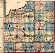 Illinois County Map With Cities by Henry County Illinois Maps And Gazetteers