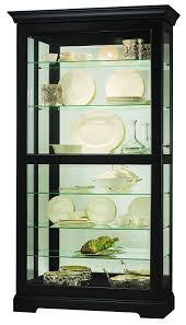 Cherry Wood Curio Cabinet Curio Cabinet Curio Console Cabinet Black Cabinets Mirrored