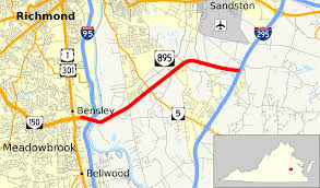 Map Of Richmond Virginia by Virginia State Route 895 Wikipedia