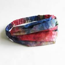 tie dye headbands tie dye bandana headbands women s hippie headwrap style