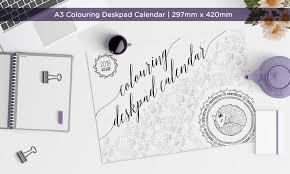 desk pad calendar 2018 a3 colouring deskpad calendar 2018 hello pretty buy design