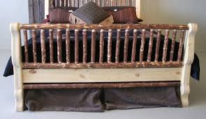 Pine Sleigh Bed Frame Pine Sleigh Bed Buy Rustic Log Beds Lodge Craft