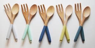 article de cuisine set dustensiles de cuisine en bois choisissez votre couleur