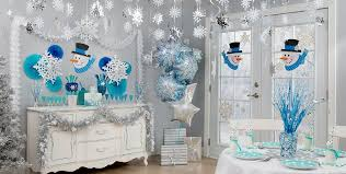 snowflakes snowman theme city