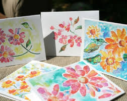 watercolor notecards bird cards set thank you cards custom notecards bird