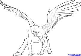 grim reaper with wings coloring pages virtren com