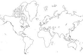 world map coloring page 1391