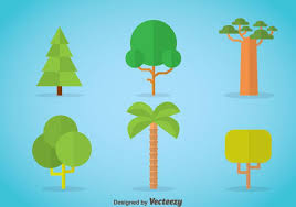 tree flat icons vector free vector stock graphics