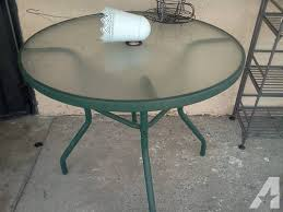 green patio table