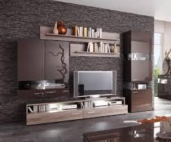 wohnzimmer fernsehwand wohnzimmer einrichten braun schwarz haus design ideen