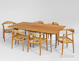 Dining Table And Six Chairs Hans Wegner Dining Table And Six Dining Chairs Sale Number 3057m