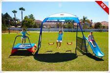 Flexible Flyer Backyard Swingin Fun Metal Swing Set Leisure Time Products Swing Set Playset Outdoor Playground Kids