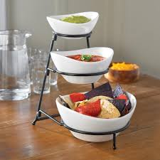 ksp strata 3 tier serving bowl set kitchen stuff plus