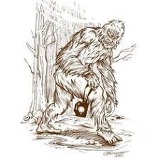 artist drawings of bigfoot bigfoot by chrisscalf cats n dogs