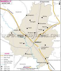 search road map bareilly district map