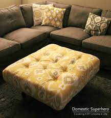 furniture appealing round storage tufted ottoman coffee table and