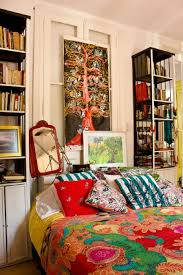 beautiful boho bedroom decorating ideas and photos bohemian bedroom with tall bookcases