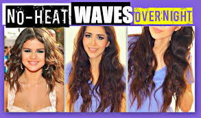 no heat selena gomez curls overnight tutorial heatless waves