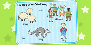 village town references the boy who cried wolf boy who cried wolf word mat visual aid keyword mat story