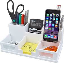 Electronic Desk Organizer Victor Wood Desk Organizer With Smart Phone Holder