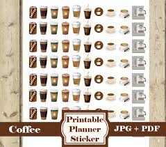 coffee planner stickers printable coffee mini stickers 80 coffee printable planner stickers