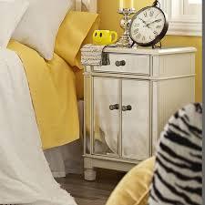 furniture chairside chest mirrored nightstand eco friendly