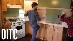 how to replace cabinets in a mobile home mobile home kitchen countertop reveal is the budget remodel done