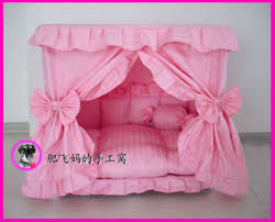 Princess Dog Bed With Canopy by Gorgeous Handmade Princess Pet Dog Cat Bed House 1 Candy Pillow