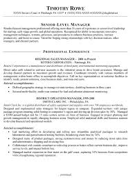 Senior Resume Examples by Career Perfect Sales Management Sample Resume Recentresumes Com
