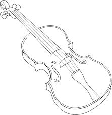 violin outline vector clip art