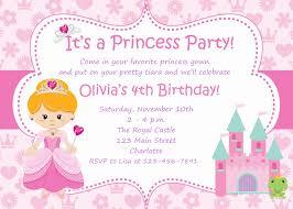 birthday invites terrific princess birthday invitations ideas