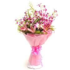 Orchid Flower Arrangements Stunning Purple Orchid Flower Bouquet Orchids Flowers By Types