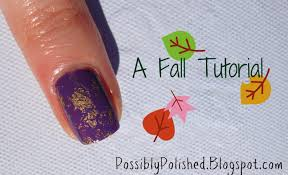 possibly polished tips on tuesday fall nail art tutorial
