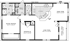 Square Floor L Two Bedroom Mobile Homes L 2 Bedroom Floor Plans