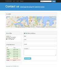 contact page bootstrap 3 0 template with working php form and