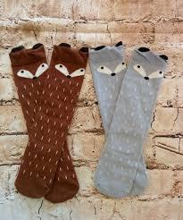 fox knee socks toddler rosegoldvintage com little girls