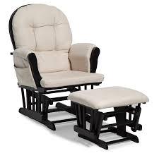 Nursery Glider Chair And Ottoman Stork Craft Hoop Glider And Ottoman Set Black Beige