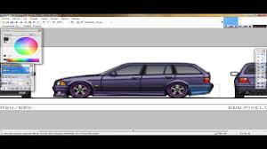 pixel art car speed art pixel car 07 bmw e36 touring youtube