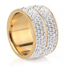 Wedding Rings Women by Free Shipping New 18k Gold Plated Classic Design Crystal Jewelry