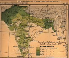 Map Of Pakistan And India by Partition Of India