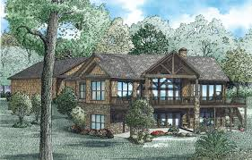 Walk Out Basement House Plans Hillside Walkout Basement House Plans So Replica Houses