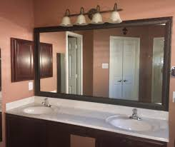 before and after customer bathroom in las vegas frame my mirror